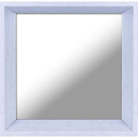 decorative plastic mirror 10 5 in x 10 5 in plastic white decorative mirror set