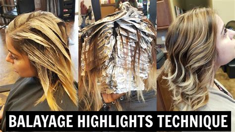 tutorials for putting lowlights in blonde hair hellocindee balayage highlights tutorial youtube
