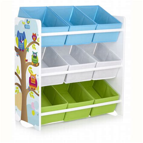 kids bedroom bin owls 9 bin storage unit new mdf kids bedroom furniture ebay