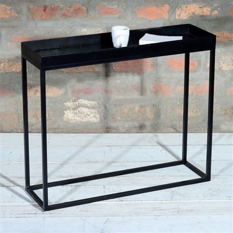 industrial metal console table suri industrial black metal console table furniture123