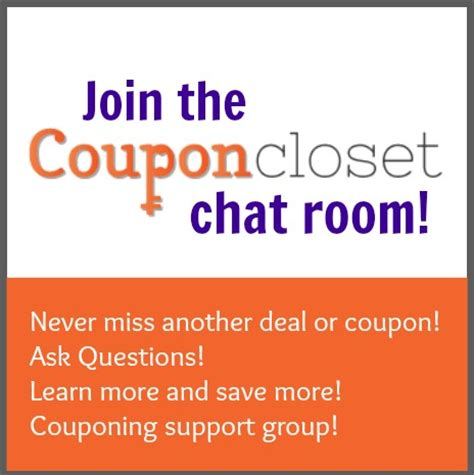 Coupon Closet by Join The Coupon Closet Chat Room On Coupon Closet