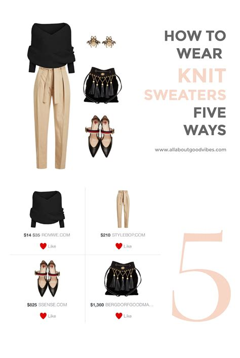 styling a knit sweater five ways fall ideas