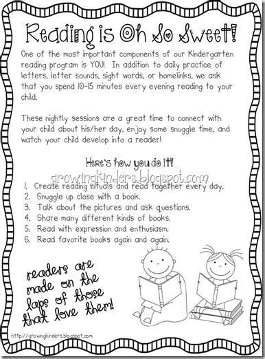 reading homework parent classroom