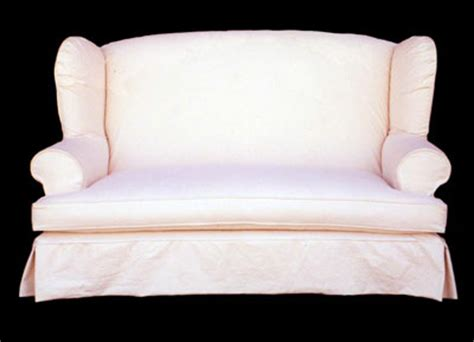 Wing Loveseat Slipcover slipcovered upholstered sofas loveseats wing loveseat cottage interiors