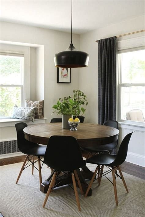modern round dining table extendable table and chairs