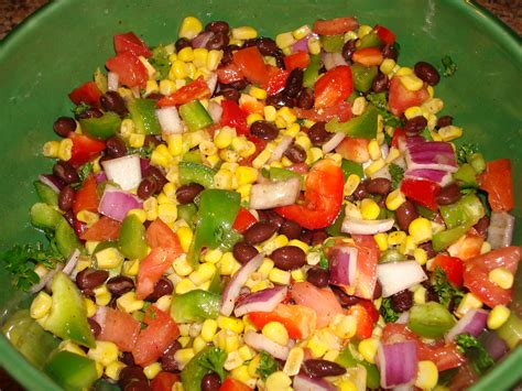 Cold Salad | friday feast cold corn and bean salad kate schmate