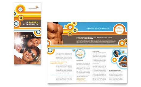 Tanning Salon Brochure Template Design Tanning Salon Website Templates