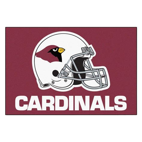 cardinals rug fanmats arizona cardinals 19 in x 30 in accent rug 5661 the home depot