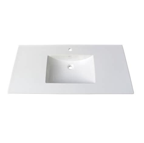 fairmont tc 4922w1 tops 49 white ceramic vanity sink top