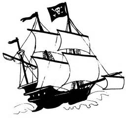 cartoon pirate ship clipart
