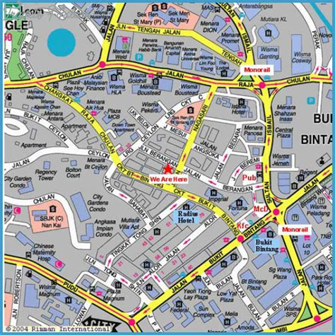 kuala lumpur map tourist attractions kuala lumpur map tourist attractions travelsfinders