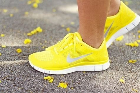 yellow nike trainers pictures photos and images for