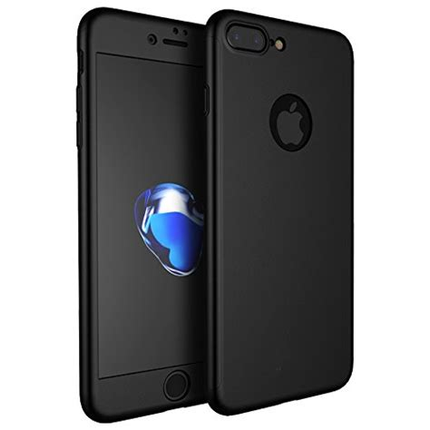Tempered Glass Kartun Karakter Cover Iphone 7 Plus Dijamin iphone 7 plus 360 degree protection front back cover with tempered glass