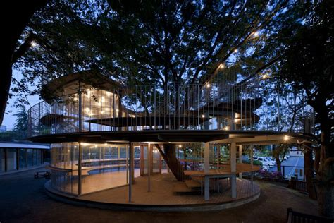 who builds houses 12 architects who build houses around trees instead of