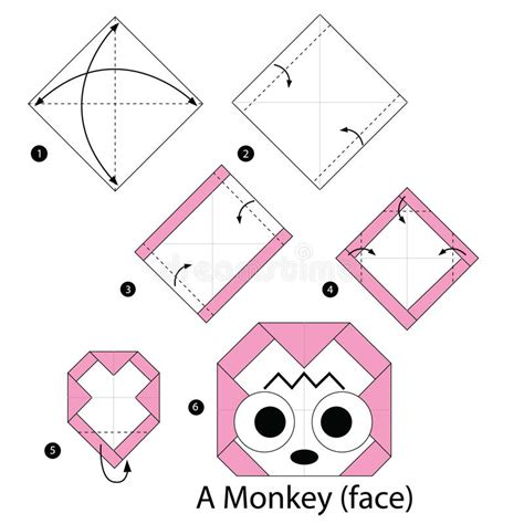 How To Make An Origami Monkey - step by step how to make origami a monkey