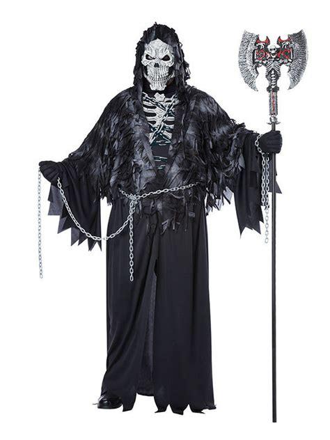 gevatter tod halloween kostuem sensenmann xl schwarz weiss