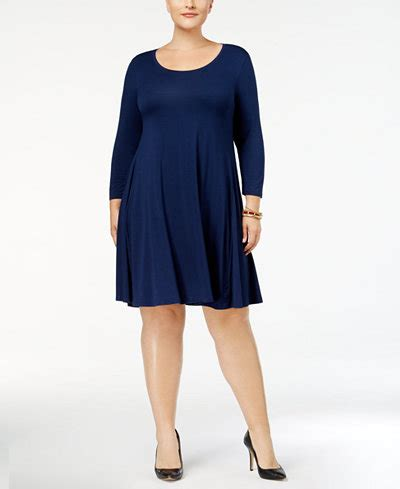 cocktail jurken plus size style co plus size swing dress created for macy s