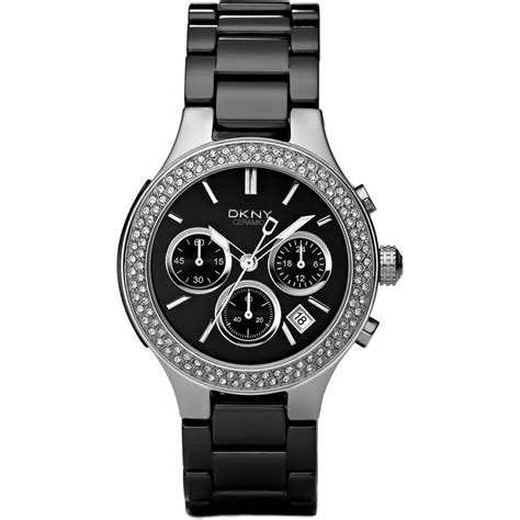 Black Ceramic Series Dkny dkny ny4983 broadway chrono black ceramic glitz
