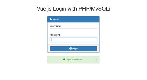 tutorial php mysqli vue js simple login with php mysqli free source code