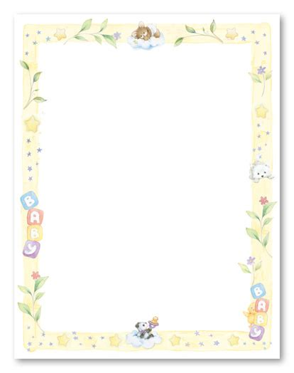 baby shower borders clip baby page borders cliparts co