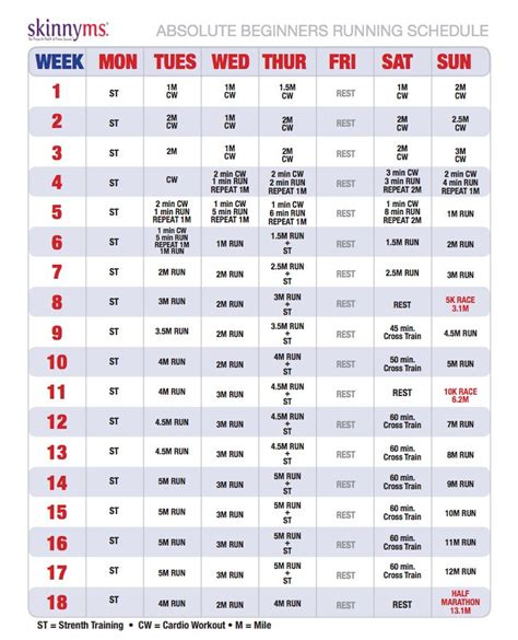 a free copy of the ms running schedule