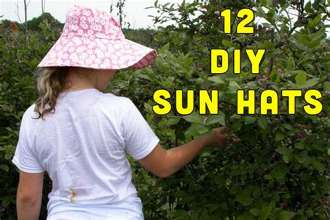 How To Make A Sun Hat Out Of Paper - 12 sun hats to sew this summer crafting a green world