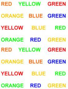 color word test stroop test images images