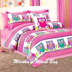 King Size Bed In A Bag With Curtains Owl Bed Set Ebay