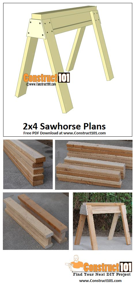 sawhorse plans    woodworking projects