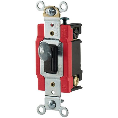 light switch lock home depot eaton 20 120 277 volt industrial grade toggle switch