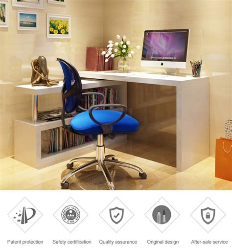 L Shaped Study Desk T Corner L Shaped Student Folding Adjustable Rotating Executive Laptop Computer Study Table Desk