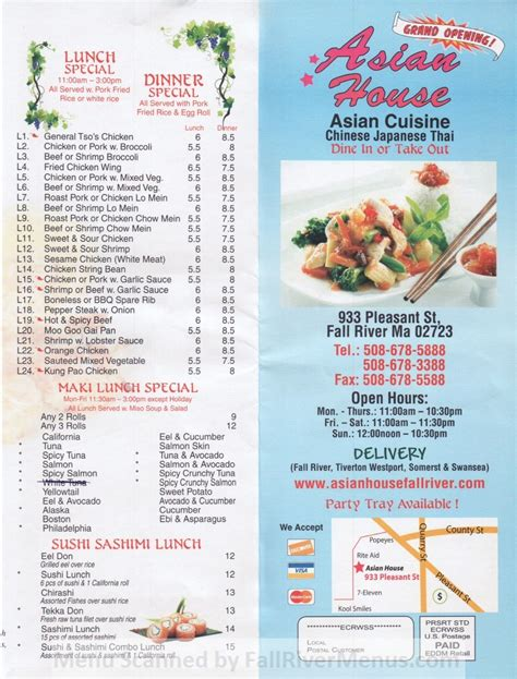 asian house menu fall river chinese food all the asian restaurants and their menus