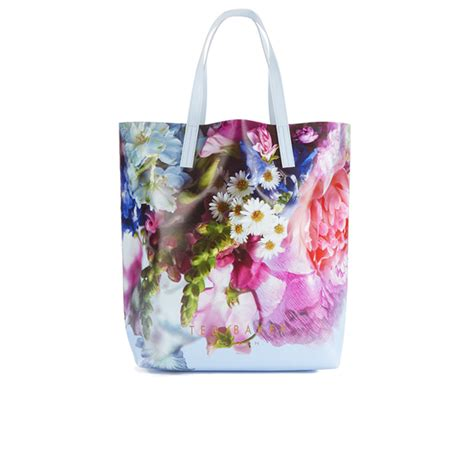 Ted Baker Canvas Printed Tote Bag by Ted Baker S Nellee Floral Focus Large Canvas Tote
