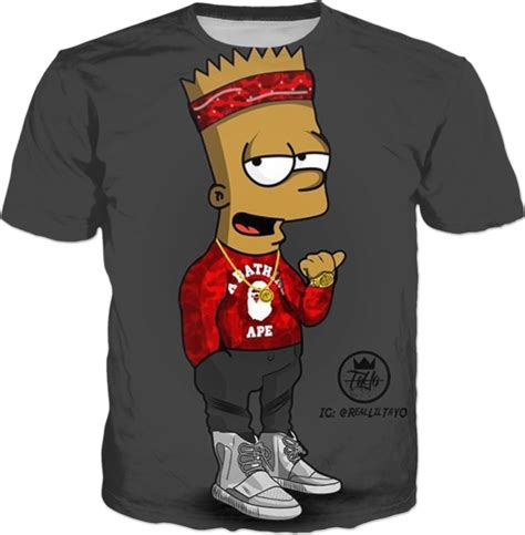 T Shirt Supreme Bart Simpsons Premium bape bart