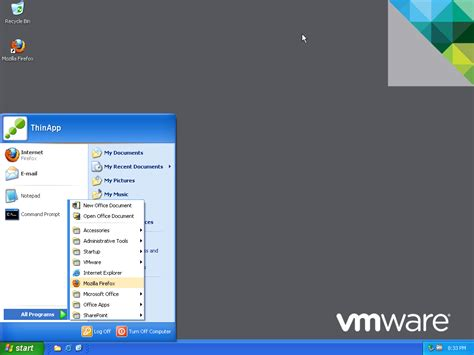 Windows 7 Start Bar On Top by Thinapp The Taskbar And Start Menu Pinning Vmware End