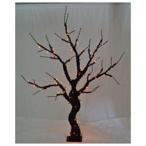 Orange Tree Lights - wmu led 6 pre lit tree orange lights