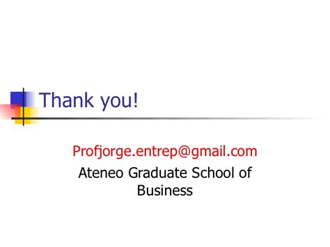 Ateneo Graduate School Mba by Finance And Management For Entrepreneurs