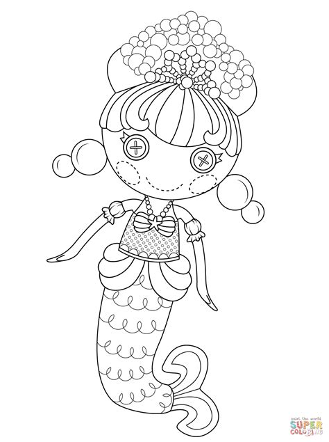 lalaloopsy coloring pages lalaloopsy bubbly mermaid coloring page free printable