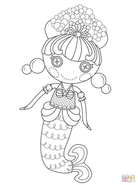 lalaloopsy coloring page lalaloopsy bubbly mermaid coloring page free printable