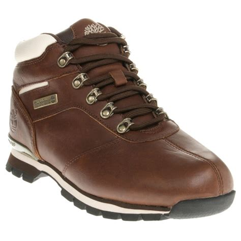 mens timberland boots white sole new mens timberland brown splitrock 2 leather boots hikers