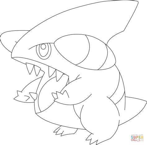 pokemon coloring pages gible gabite pokemon coloring pages images pokemon images