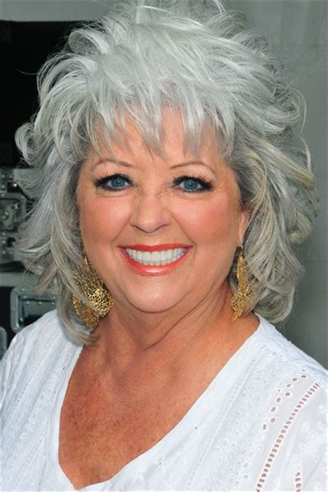 is paula deens hairstyle for thin hair celebrities with gray hair her hair beautiful and gray