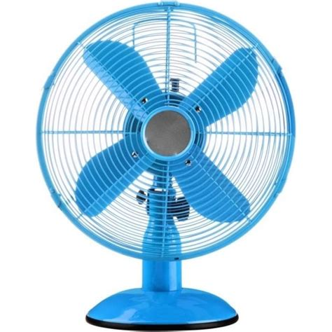 Small Oscillating Desk Fan Buy Blue Oscillating Metal Desk Fan From Fusion Living