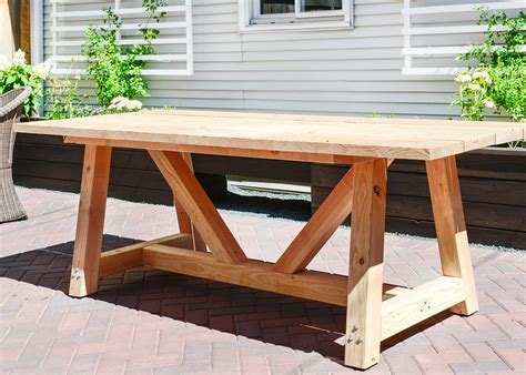 Our Diy Patio Table Part I Yellow Brick Home Diy Wood Patio Table