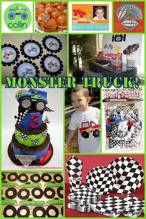 monster jam truck theme 17 best images about monster truck party ideas on