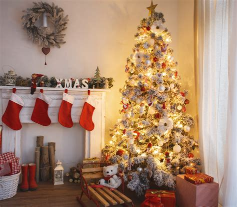big christmas tree in small room tree safety tips for your home modernize