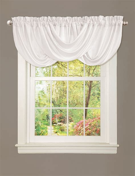 Lush Decor by Lush Decor Lucia White Valance Stage Stores