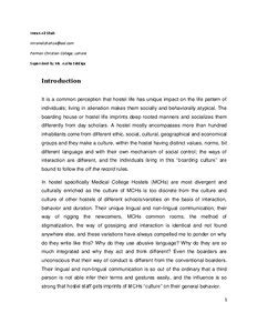 Ethnographic Essay Exles by Ethnographic Report Of Colleges Of Pakistan Munich Personal Repec Archive