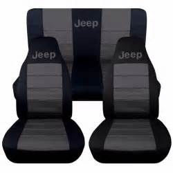 front rear black and charcoal jeep seat covers jeep