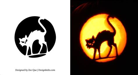 free printable scary pumpkin carving pattern designs free printable cat scary pumpkin carving ideas